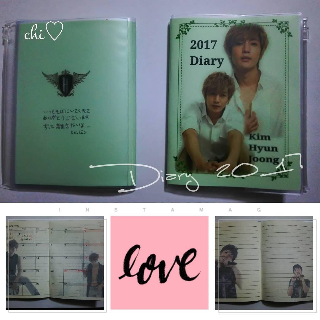 Kim Hyun Joong diary 2017 notebook