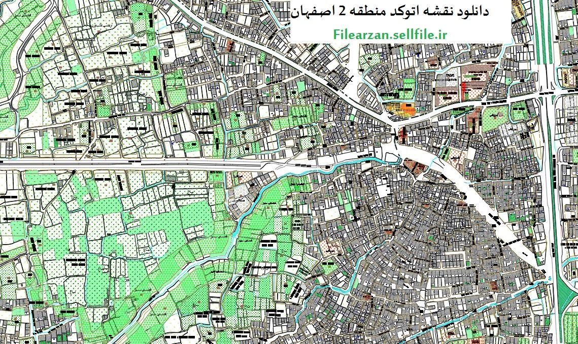 دانلود نقشه اتوکد کاربری اراضی منطقه 2 اصفهان
