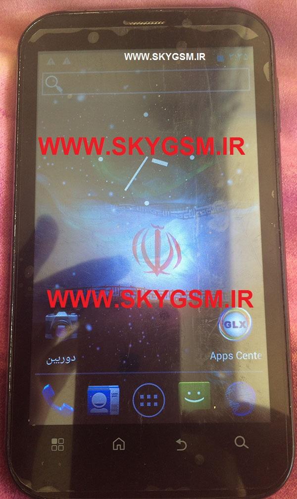 رام فایل فلش جی ال ایکس  firmware GLX SKY DUAL CORE