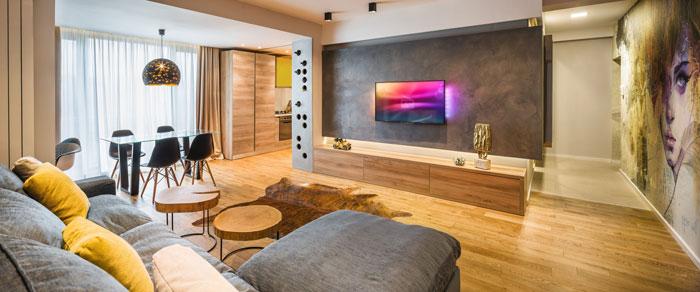 آپارتمان زیبای یک زوج هنرمند بهمراه نقشه