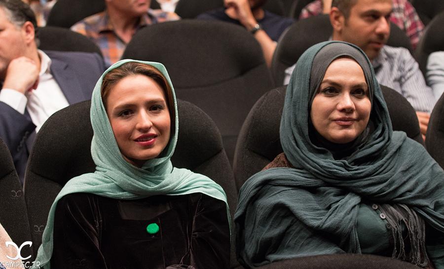 نرگس آبیار و گلاره عباسی در اکران فیلم هیهات