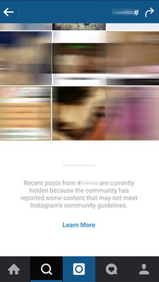 تگ های غیر اخلاقی در اینستاگرام منتشر نکنید فیلتر می شوید