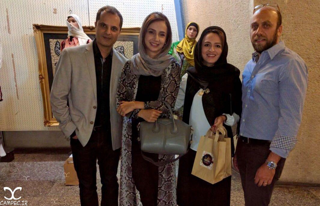 شبنم قلی خانی و همسرش و گلاره عباسی و همسرش