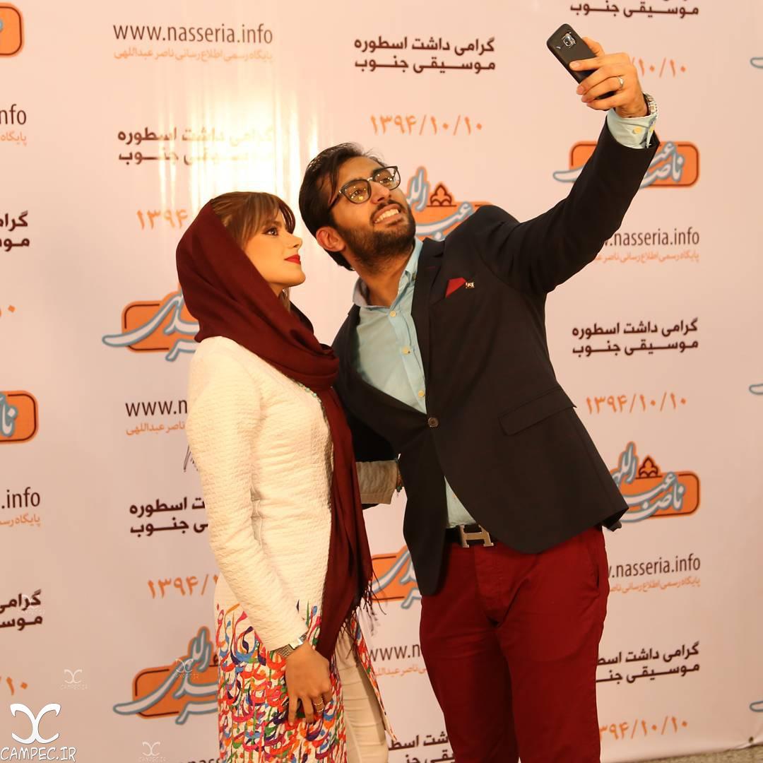 نوید عبداللهی و همسرش