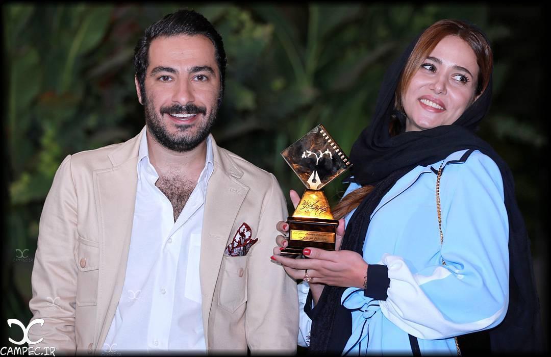 پریناز ایزدیار و نوید محمدزاده در دهمین جشن انجمن منتقدان سینما