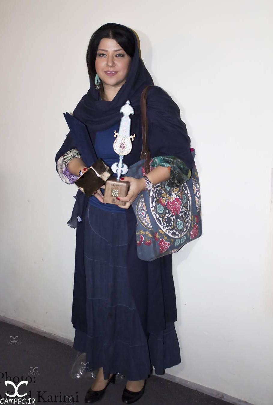 همسر شهاب حسینی در دهمین جشن انجمن منتقدان سینما