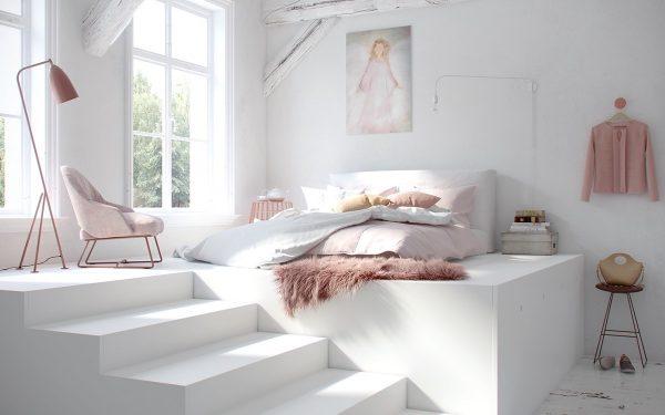 عکس اتاق خواب به رنگ روشن
