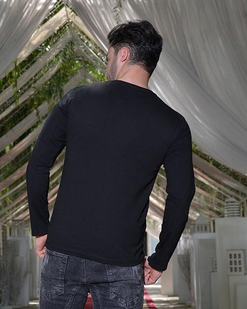 تی شرت مشکی نخی با کیفیت