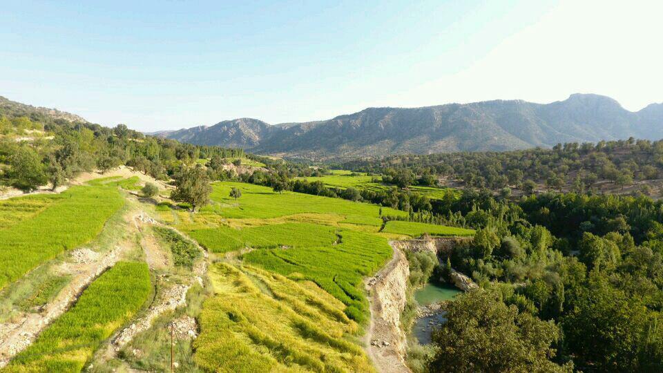 تصاویر هوایی روستاهای جوزار جاوید و بکش