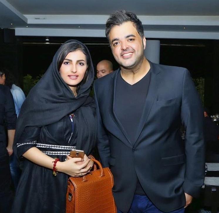 سعید عرب و همسرش