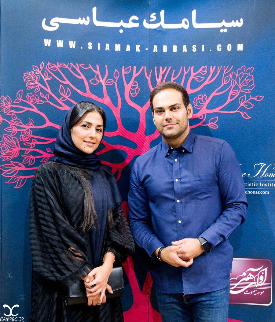 هدی زین العابدین در کنسرت سیامک عباسی