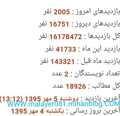 پر بازدیدترین وبلاگ ایران در سال95