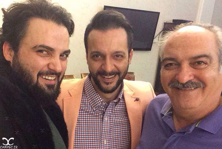 مهدی سلوکی با برادرش محمد و پدرش