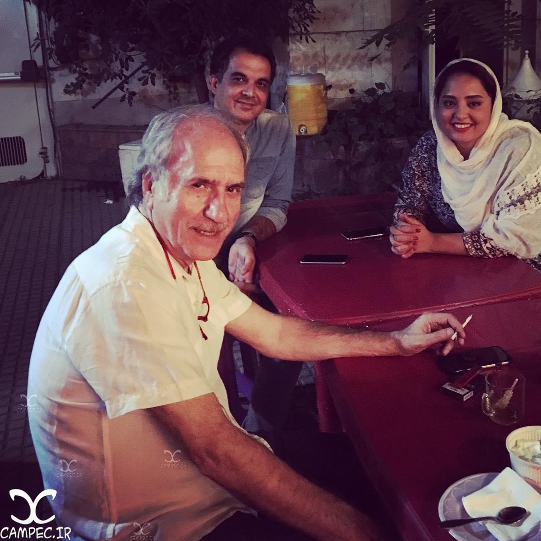 نرگس محمدی در پشت صحنه سریال ماه و پلنگ
