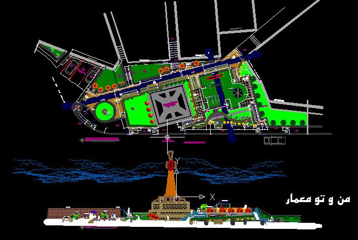 دانلود رایگان نقشه اتوکدی پارک