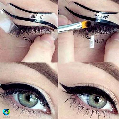 طریقه استفاده از شابلون خط چشم