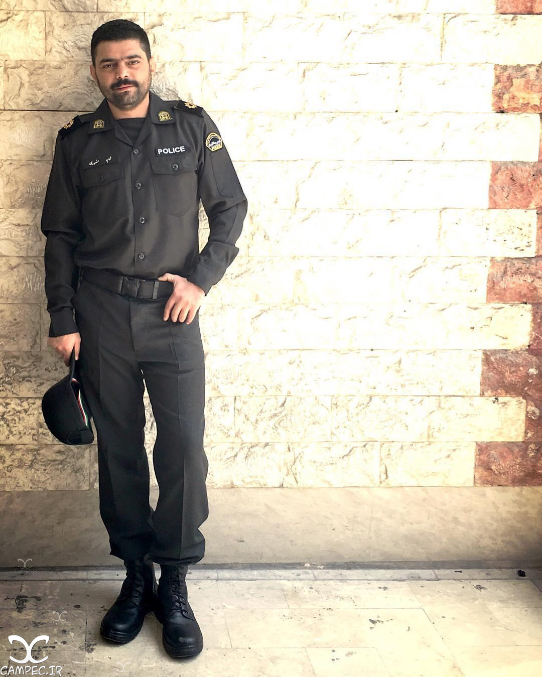 شاهد احمدلو در پشت صحنه سریال گشت ویژه