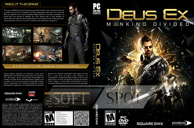 کاور بازی Deus Ex: Mankind Divided