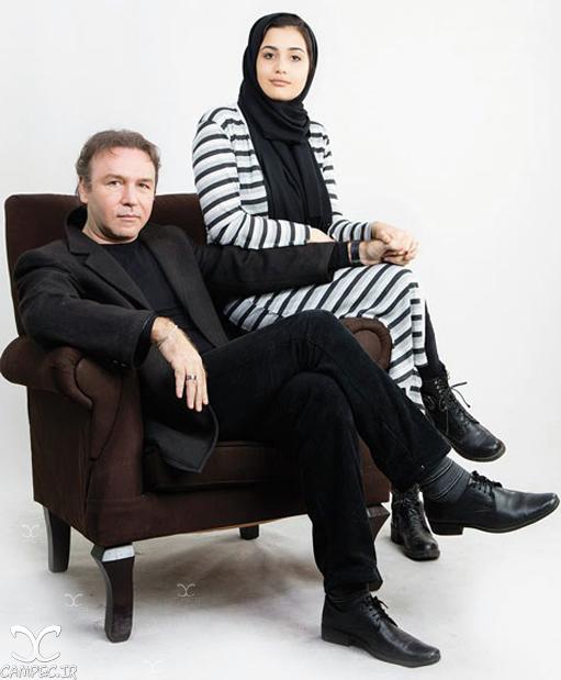 کیهان ملکی با دخترش ژرفا