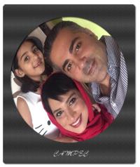 عکسها و بیوگرافی روشنک عجمیان با همسر و دخترش