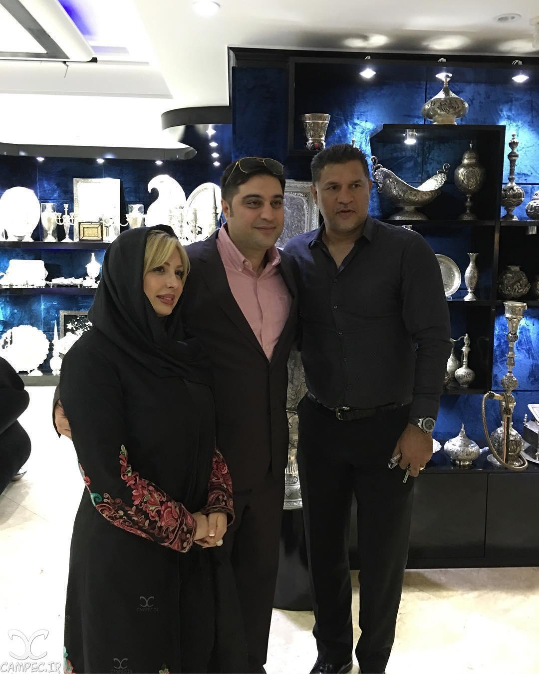 نیوشا ضیغمی و همسرش و علی دایی