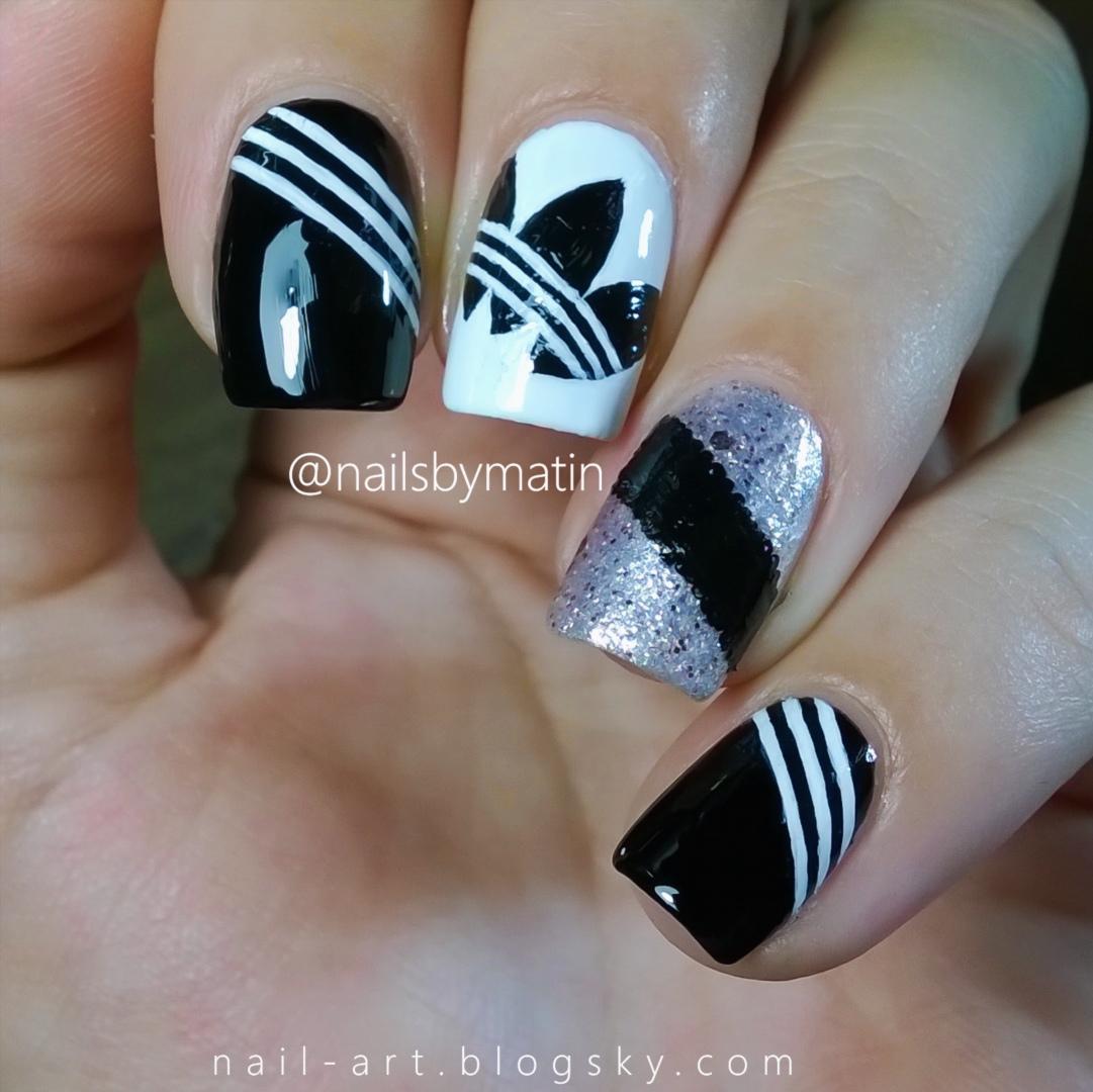 دستهبندی طراحی ناخن سیاه و سفید - Black And White Nails - طراحی ...