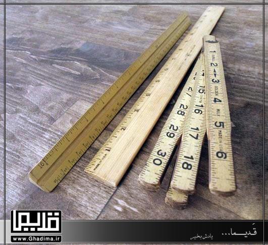 خط کش های چوبی