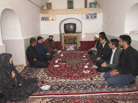 دیدار با خانواده شهید مدافع حرم