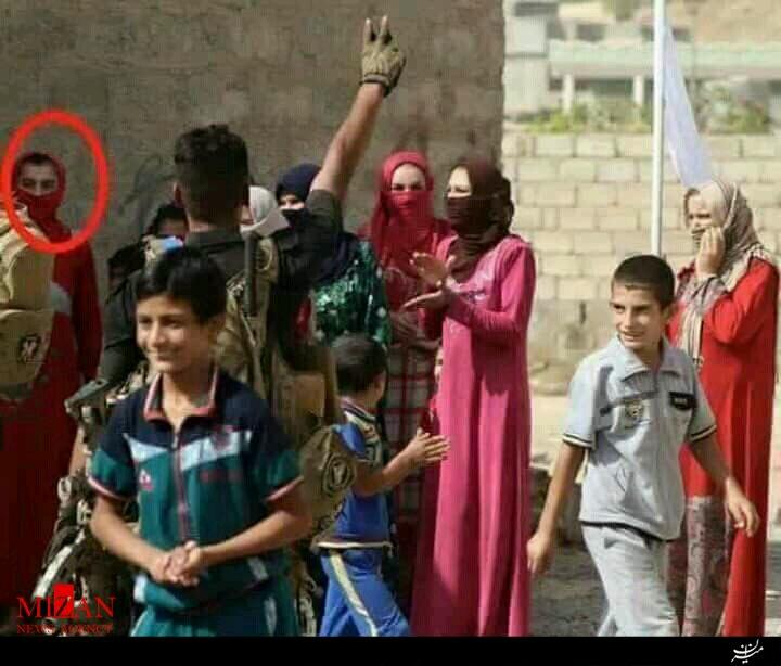 تصويري از فرار داعشيها با پوشش زنانه