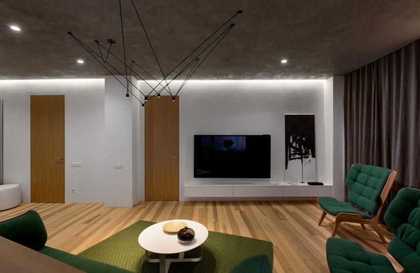 طراحی و رنگ بندی زیبا آپارتمان4