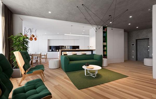 دکور زیبای آپارتمان به همراه پلان