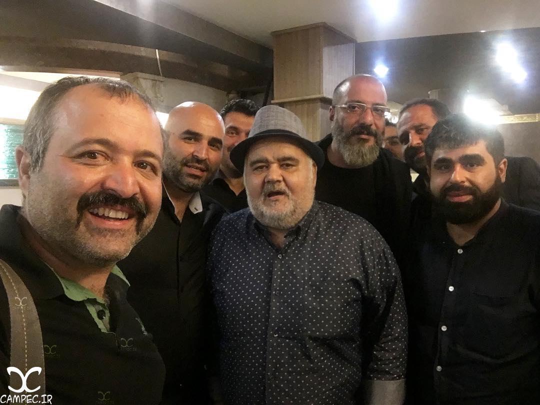 [blocked]جمعی از بازیگران در مراسم عزاداری امام حسین