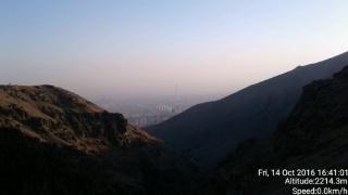دور نمای برج میلاد از توچال همین الان