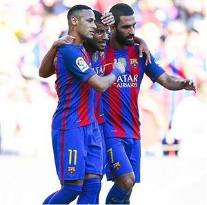 نتیجه بازی امروز بارسلونا و دپورتیوو لاکرونیا 24 مهر 95 گلها و خلاصه