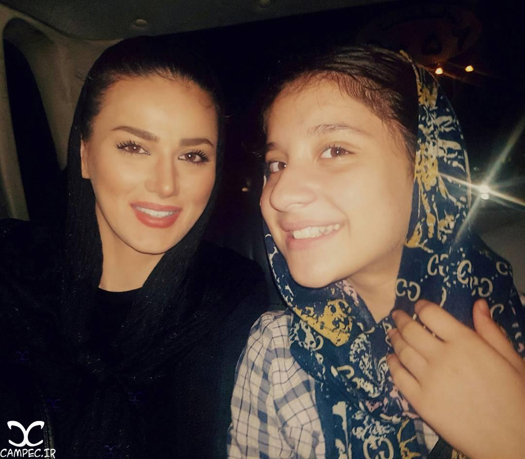 سهیلا هادی زاده با دخترش
