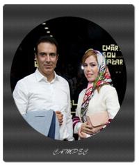 عکسها و بیوگرافی مزدک میرزایی با همسرش