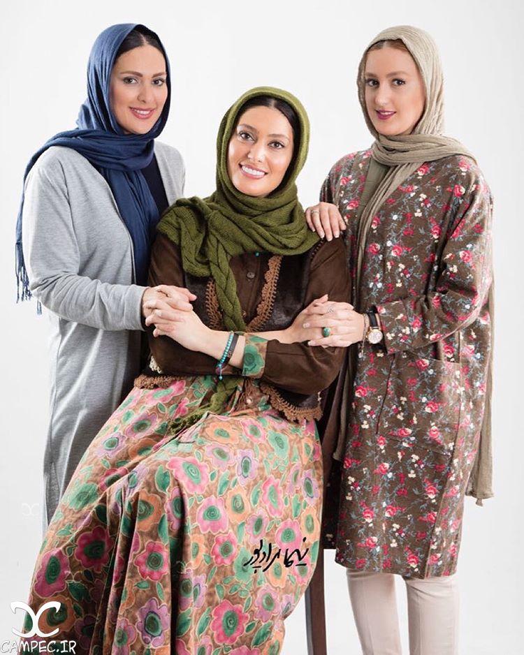 سودابه بیضایی با دو خواهرش