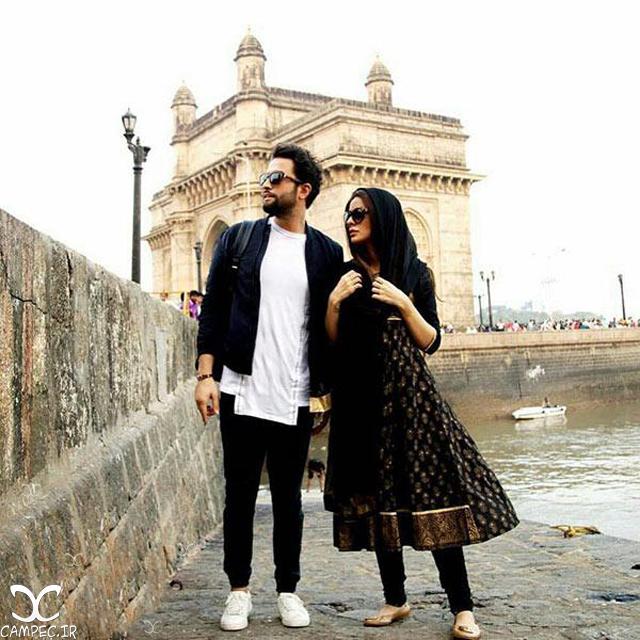 بنیامین بهادری و همسرش در فیلم سلام بمبئی