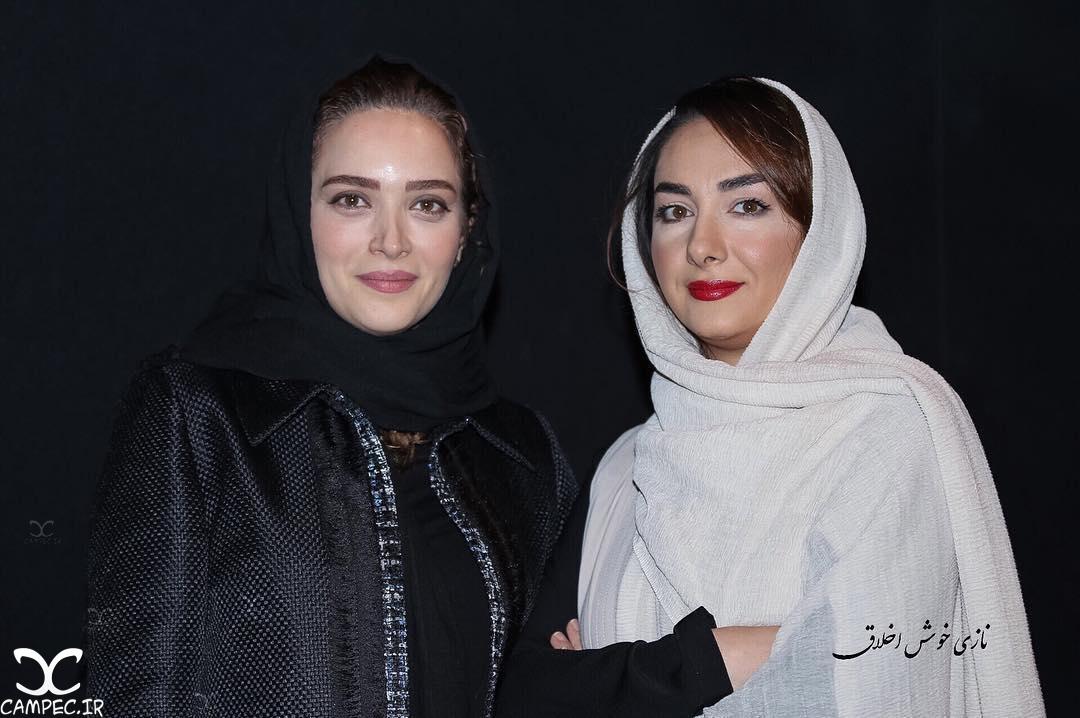 هانیه توسلی و بهنوش طباطبایی در اکران فیلم سیانور