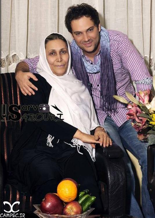 شهروز ابراهیمی و مادرش