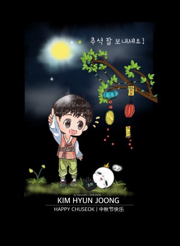 [blancbelle Fanart] Kim Hyun Joong - Happy Chuseok [2016.09.14]