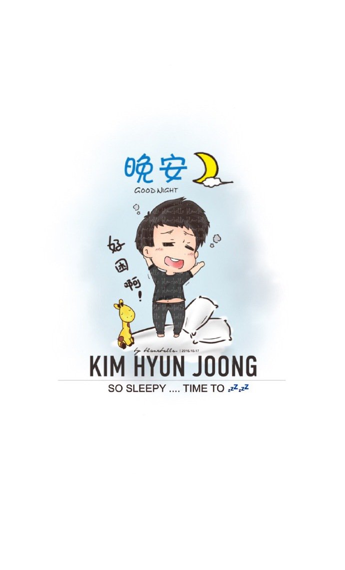 [blancbelle Fanart] Kim Hyun Joong - So Sleepy ... Time to [2016.10.17]