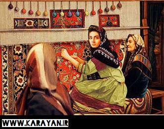 صنعت فرش بافی از اوایل اسلام تا سلسله هاي قره قويونلو در ایران