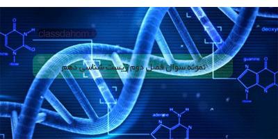 نمونه سوال فصل دوم زیست شناسی دهم