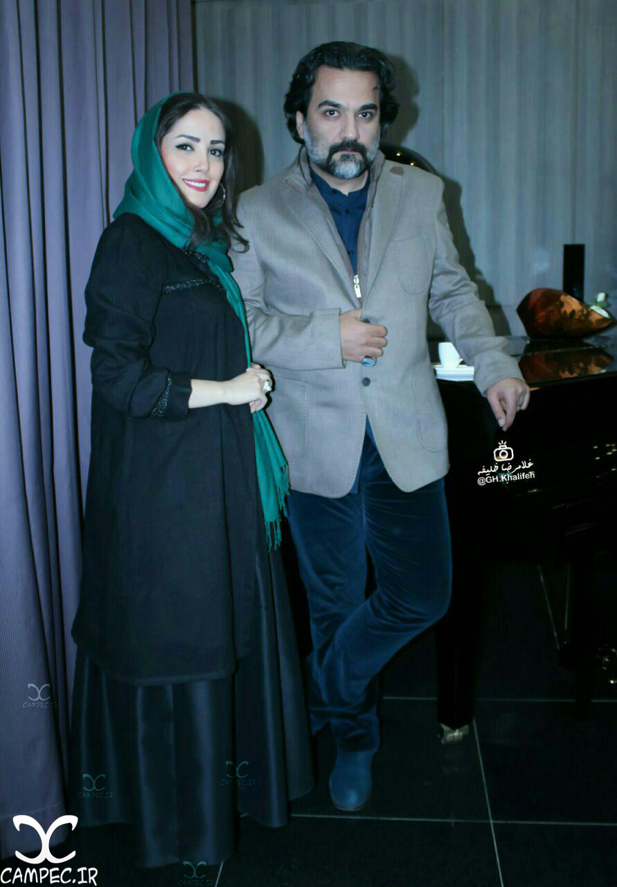 یغما گلرویی و همسرش آتنا حبیبی