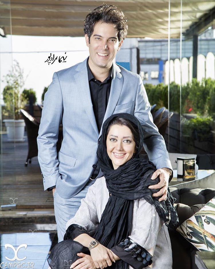 عکس امیر علی نبویان و همسرش بهار نوروزپور
