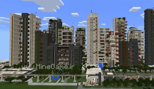 دانلود مپ شهر مدرن NXUS برای PE
