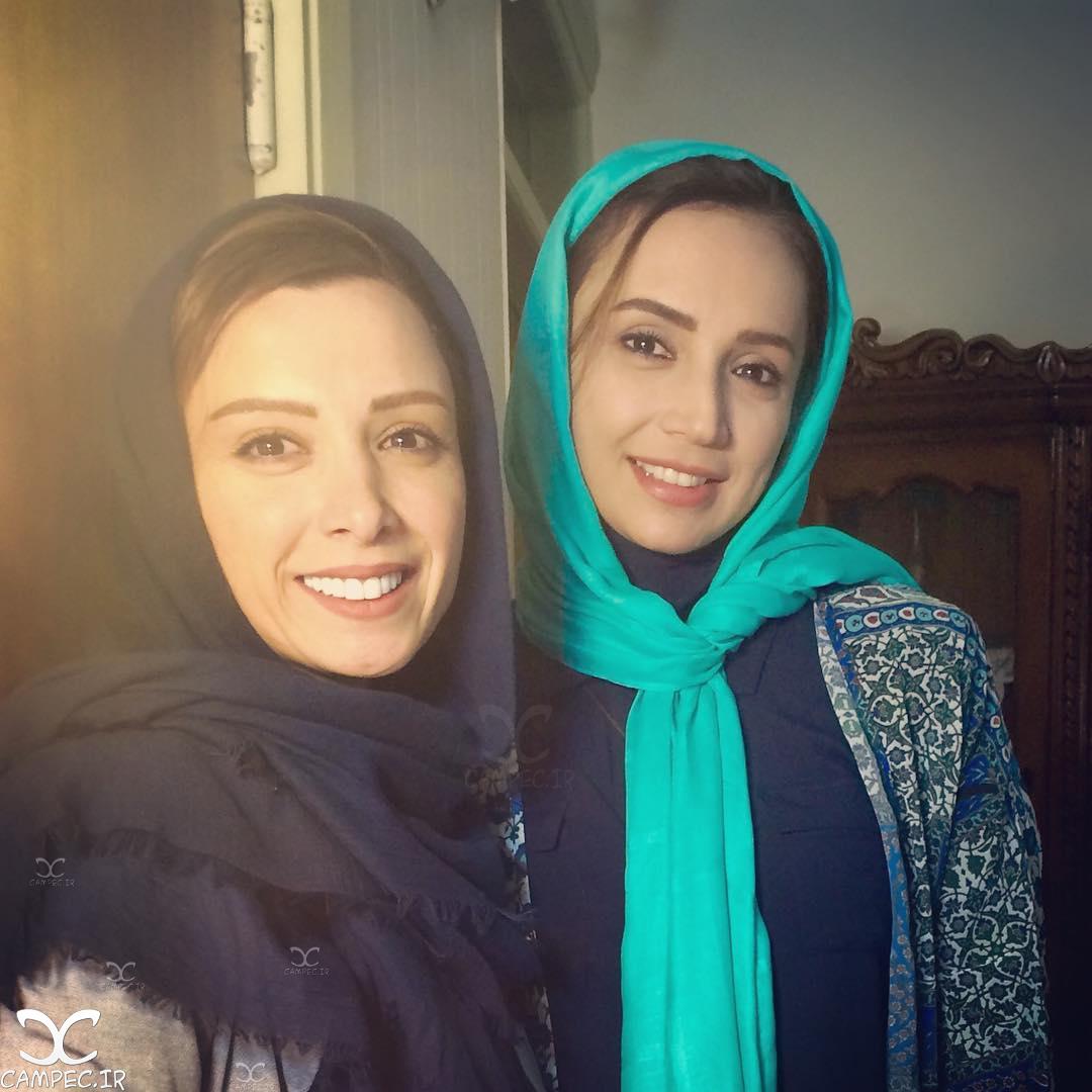 شبنم قلی خانی و الهه حصاری در سریال هشت و نیم دقیقه