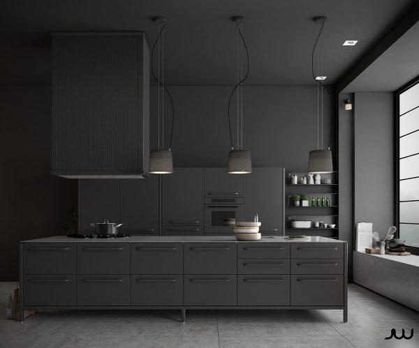 عکس کابینت آشپزخانه به رنگ مشکی2