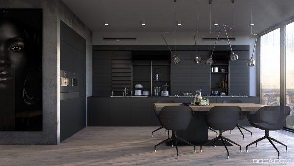 عکس کابینت آشپزخانه به رنگ مشکی3